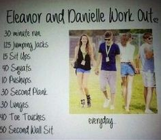 Eleanor and Danielle work out! :) love these girls!!!