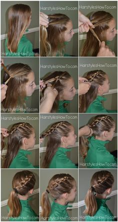 How to do a knotted braid into a ponytail tutorial!