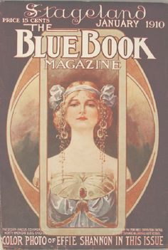 Affiche+... Art Nouveau(stijl) Vrouw *Poster+...Jugendstil(style) Women ~1910 The Blue Book Magazine~