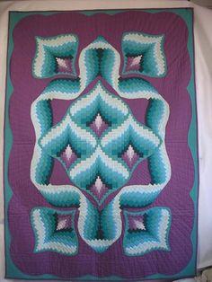 Peacock Puzzle Quilt Pattern JAD2-106 by Jennifer Amor Designs. Advanced bargello quilt pattern.
