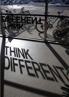 Clever Signage - Shadow reveals words