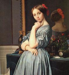 6º Neoclasicismo. Autor J. Auguste Dominique Ingres en 1845  Museo Frick Collection (Nueva York),  136 x 92 cm.Oleo sobre lienzo. Predomina el estilo correcto, arte racional y ordenado, con armonía, equilibrio y proporción.