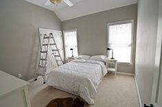 Valspar Woodlawn Colonial Gray – master bedroom/guest bathroom
