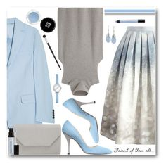 """Beautiful in Blue & Grey"" by brendariley-1 ❤ liked on Polyvore featuring Chicwish, The Row, Acne Studios, MaxMara, Halogen, INC International Concepts, GUESS, Laura Mercier, Givenchy and shu uemura"