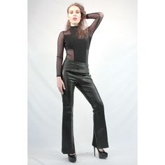 Amazing late 1960's leather bell bottoms!