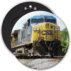 CSX Railroad AC4400CW #6 With a Coal Train Buttons --SOLD-