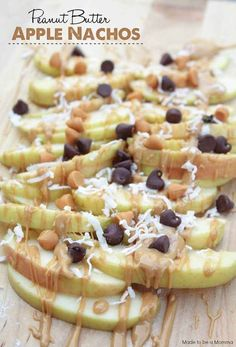 Peanut Butter Apple Nachos: Pro tip: Pour all the toppings into a single bowl, and dip your apple slices to avoid any mess and have an easy cleanup.