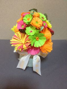 My paper flowers. A gift for Mom :) Very easy DIY