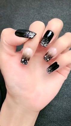 Acrylic nail art 700661654517389019 - Simple Nail Art Design 2020 Source by footdeco Black Nail Designs, Simple Nail Art Designs, Easy Nail Art, Acrylic Nail Designs, Stiletto Nail Designs, Simple Nail Art Videos, Classy Nails, Stylish Nails, Simple Nails