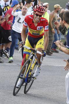 Vuelta a España 2014 - Stage 20: Santo Estevo de Riba de Sil - Puerto de Ancares 185.7km photos - Alberto Contador (Tinkoff-Saxo) going for the win!