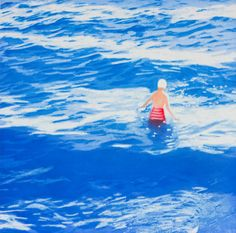 Wading II (Blue), 2012  by Isca Greenfield-Sanders