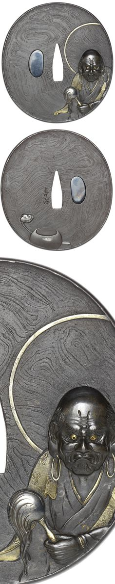 I didn't spot a lot of mokume tsuba in the past and while it's a bit 'busy for the eyes' i digg this one   Picsource : bonhams.com Samurai Sword Shop Info CenterUSA dave@samurai-sword-shop.com00