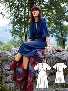 Keyhole Flutter Dress 12/2016 #118A http://www.burdastyle.com/pattern_store/patterns/keyhole-flutter-dress-122016?utm_source=burdastyle.com&utm_medium=referral&utm_campaign=bs-tta-bl-161122-CoolBritanniaCollection118A