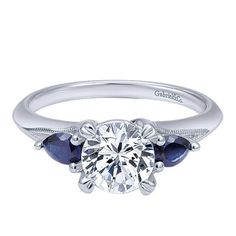 White Gold Sapphire Three Stone Ring from Emma Parker & Co.