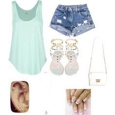 Girls Day! by devin-neely on Polyvore featuring polyvore fashion style Rip Curl Miss Selfridge