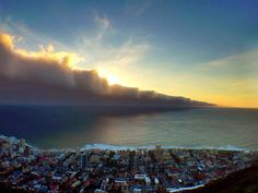 This is what came rolling into #CapeTown last night! Beautiful, but ominous...  Via stillframemylife  #clouds #sunset #storm