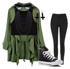 """""""love this so much"""" by itsrenaesmith on Polyvore featuring Topshop, Humble Chic, Chicnova Fashion and Converse"""