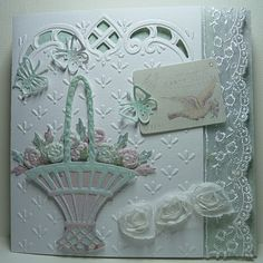 could also work as a sympathy card.  As an easter card I would use pastel yellow, green or lilac
