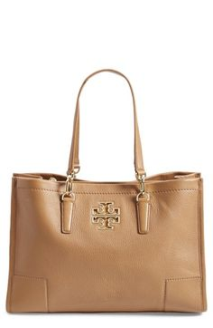 Tory Burch 'Britten' Leather Tote available at #Nordstrom