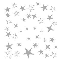 Deko und Accessoires für Weihnachten: 100 Sterne Aufkleber Weihnachten Fensterbilder made by MEG-Wandtattoos/Wall-Sticker via DaWanda.com