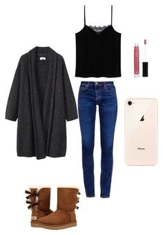 ♡ by marilena-beiko on Polyvore featuring polyvore fashion style MANGO Toast AG Adriano Goldschmied UGG Anastasia Beverly Hills clothing