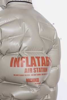 Inflatable streetwear MICHIKO KOSHINO