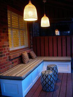 backyard patio could bu good outdoor storage