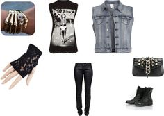 """Punk rock outfit"" by kevinthepige ❤ liked on Polyvore"