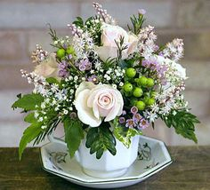 Lovely tea cup arrangement