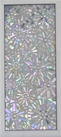 Snowy Flakes by Suzanne Steeves  ~  Maplestone Gallery  ~  Contemporary Mosaic Art