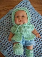Art deco small doll clothes patterns, american doll c… Crochet Doll Dress, Crochet Barbie Clothes, Knitted Baby Clothes, Knitted Dolls, Baby Knits, Boy Doll Clothes, American Doll Clothes, Doll Clothes Patterns, Doll Patterns