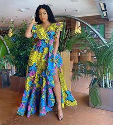 Ankara Maxi Dress, African Maxi Dresses, African Fashion Ankara, Latest African Fashion Dresses, African Dresses For Women, African Print Fashion, African Attire, African Prints, Long Dresses