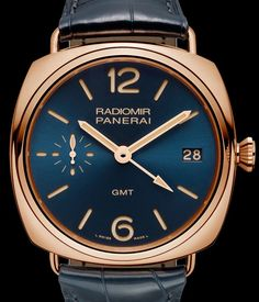 Panerai Radiomir 3 Days GMT Oro Rosso – Золотые часы Панераи | LuxuriousWatches.ru