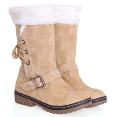 It's a warm snow boots with thick fur in side and the tup.It is an essential item for your cold winter, you must love it when in slip on. It crafted from soft f