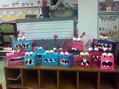 project for valentine's day with my son's 2nd grade class!!! fun!