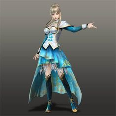 Wang Yuanji and another pretty costume.