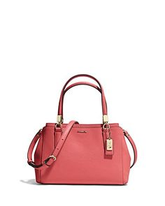 COACH Madison Mini Christie Carryall Crossbody in Saffiano Leather | Bloomingdale's