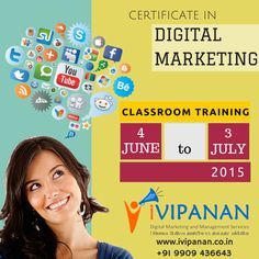 Certificate in #DigitalMarketing course starting from 4th June 2015. Contact now 9909436643 or visit http://bit.ly/1LejUgo for more details. #Surat #SocialMedia #Marketing #SEO #Gujarat