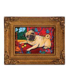 Loving this Pug Muttisse Framed Canvas on Framed Canvas, Canvas Art, Pug Art, Pug Pictures, Weird Gifts, Cute Pugs, White Terrier, Pug Love, Dog Lovers