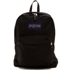JANSPORT Superbreak Backpack ($36) ❤ liked on Polyvore featuring bags, backpacks, accessories, black, rucksack bags, jansport rucksack, jansport daypack, day pack backpack and strap bag