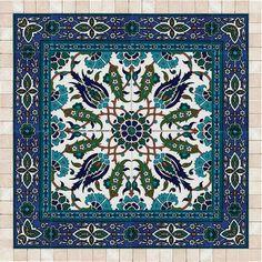 Tiles and stone mosaic wall art decor, Islamic art, ready to hang Islamic Patterns, Tile Patterns, Mosaic Wall Art, Tile Art, Tree Wall Art, Wall Art Decor, Arabesque, Beautiful Rose Flowers, Stone Mosaic
