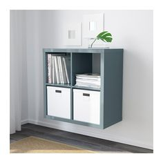 KALLAX Shelf unit IKEA You can use the furniture as a room divider because it looks good from every angle. Ikea Kallax Shelf Unit, Ikea Shelves, Ikea Expedit, Cupboard Storage, Locker Storage, Pet Storage, Divider, Ikea Home, Ikea Us