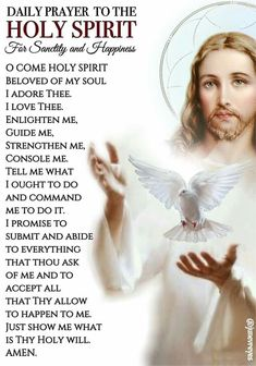 I love holy spirit prayer. Prayer Scriptures, Bible Prayers, Faith Prayer, God Prayer, Prayer Quotes, Faith In God, Catholic Prayers Daily, Morning Prayer Catholic, Catholic Answers