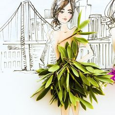 leafy layers s'il vous plaît  . . #SomeFlowerGirls #feuilles in #girly #green