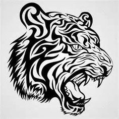 Tribal Tiger Tattoo Design  Tattoos 1000s Of Designs And