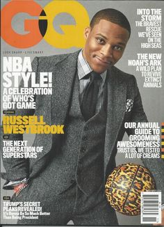 GQ magazine Russell Westbrook NBA style Annual grooming guide New Noahs Ark