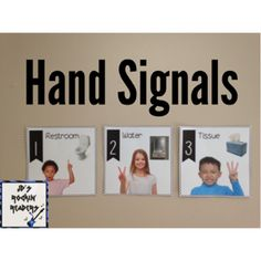 Classroom Freebies: Hand Signals!