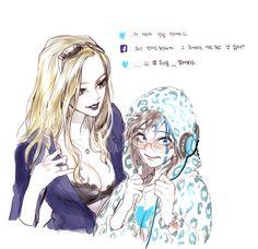 Facebook girl &twitter girl