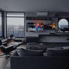 Smart Home Design, Home Room Design, Home Office Design, House Design, Small Apartment Living, Home Office Setup, Room Setup, Apartment Design, House Rooms