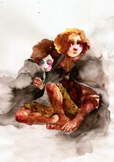 Two hobbits by faQy.deviantart.com on @DeviantArt